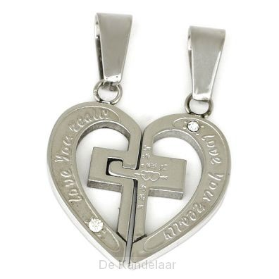 pendant partner heart cross