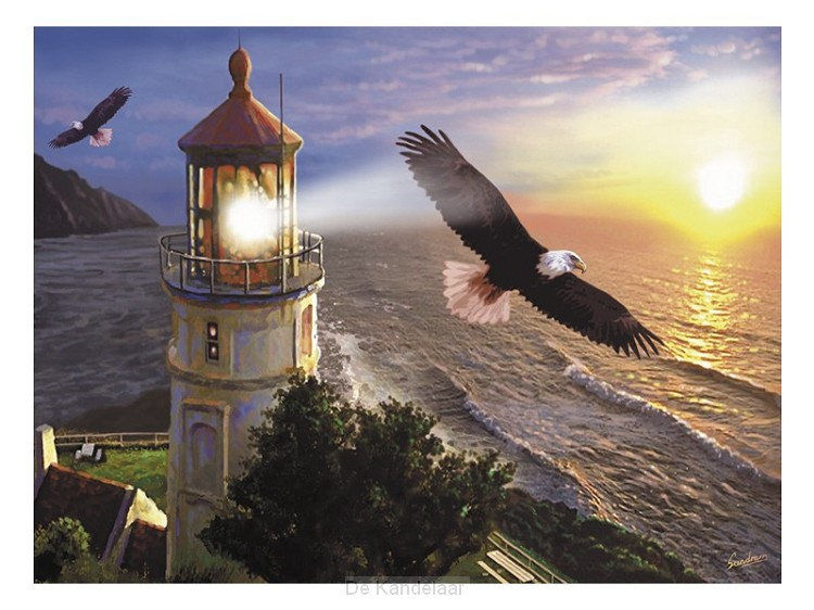 Eagle with lighthouse