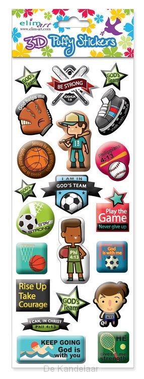 Puffy stickers sports
