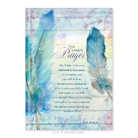 Hardcover journal Lord's prayer