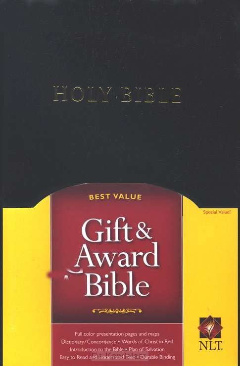 Gift & award bible NLT black imitation l